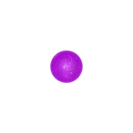 purpleish: One violet brilliantine xmas ball over white background