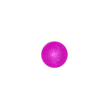 One pink Christmas ball centered in a white square like a dice Stock Photo