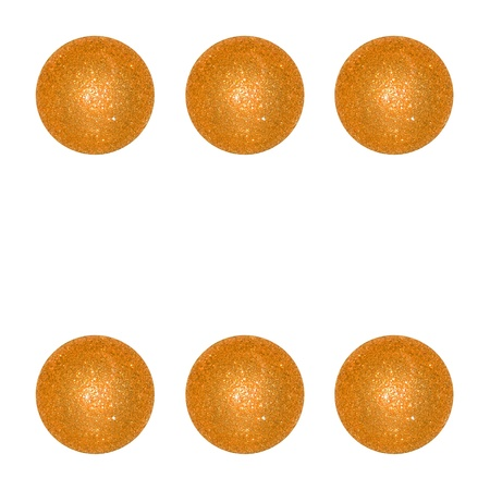 competences: Gaming, gold, golden, yellow, play, Christmas balls isolated on white