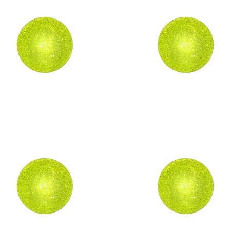 Four, light green balls, brilliantine, festive, Christmas photo