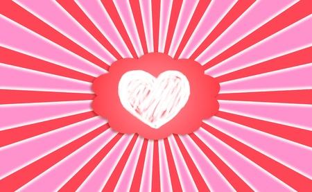 idealized: Love, feelings, dreaming, irradiating, heart, cloud Stock Photo