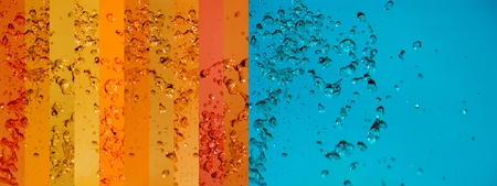 instrospection: Turquoise, orange, background, water, drop, drops, liquid, splashing