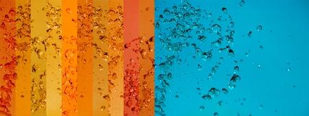 Turquoise, orange, background, water, drop, drops, liquid, splashing
