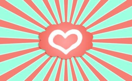 simetric: Cloud of love feelings with radial sky
