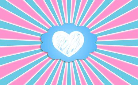 idealized: Heart, love, dream, feel, rays