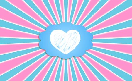 simetric: Heart, love, dream, feel, rays