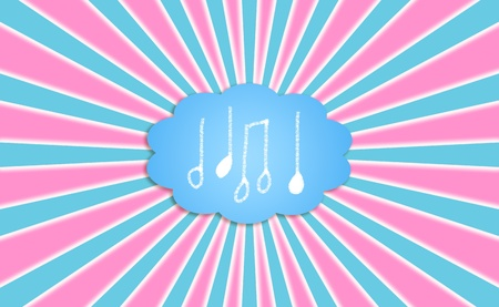 Music, musical, note, notes, cloud, composing photo
