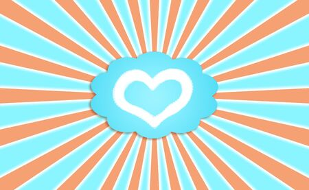 Heart, love, cloud, bubble, background photo