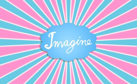 idealized: Imagine, imagination, cloud, clouds, concept, concepts, ray, rays Stock Photo