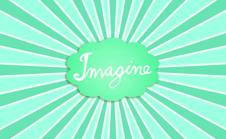 simetry: Imagine, imagination, green, background, rays, cloud