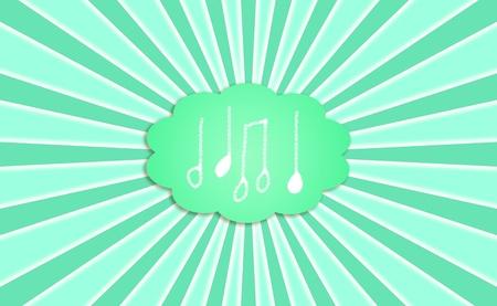 Music, green, ecologic, background, metaphor photo