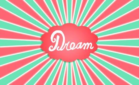 simetric: Concept, word, cloud, dream, dreaming, joy, xmas Stock Photo