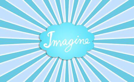 Blue, imagine, dream, cloud, concept, backdrop Stock Photo - 13114870
