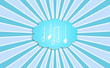 Melodic, note, notes, symbol, cloud, symbols, music, background photo