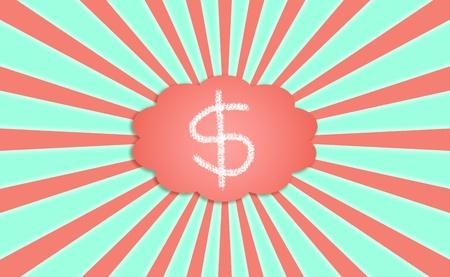 simetry: Money, dollars, dollar, rays, backgrounds, symbols