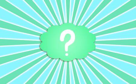 Demandez, question, signe, rayons, fond, bleu, vert Banque d'images - 13114307