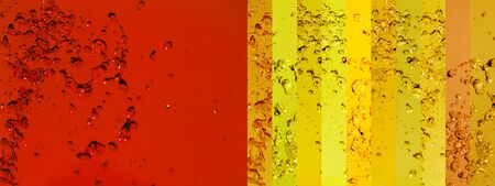 Red, yellow, drops, banners, backgrounds, water Stock Photo - 13114213
