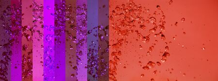 colortherapy: Water, drops, banner, backdrops, red, warm, purple