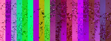 Intense, background, backgrounds, contrast, banners, drops, splash, green, violet Stock Photo