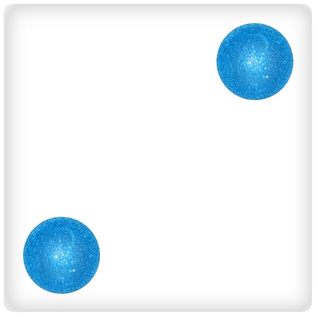 Two xmas balls on a white isolated dice photo