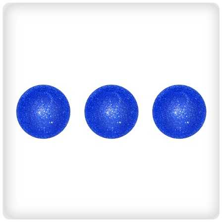 competences: Three, indigo blue, balls, balloons