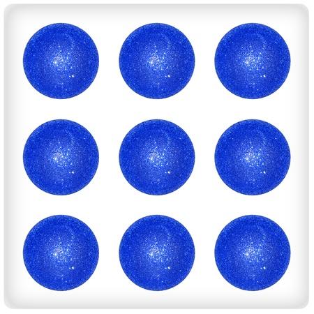 Nine, balls, blue, indigo, different, creative, festive, xmas, dice Stock Photo - 13066380