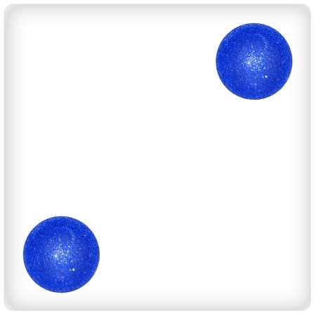Two, result, blue, balls, pair, dice photo