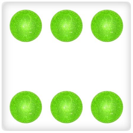 Six, fun, funny, game, games, xmas balls, green photo