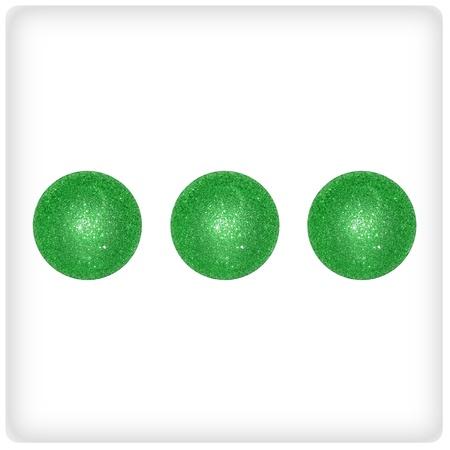 Three, green, xmas, balls, fun, points, dots, dice photo