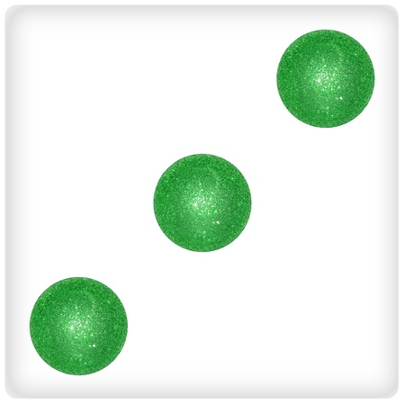 Trinity, three, xmas balls, dice, games photo