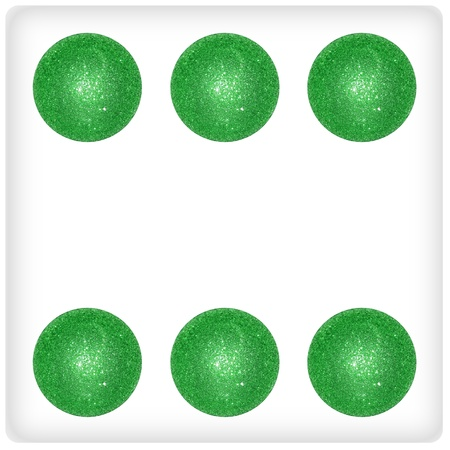Six xmas balls as result on a dice game photo