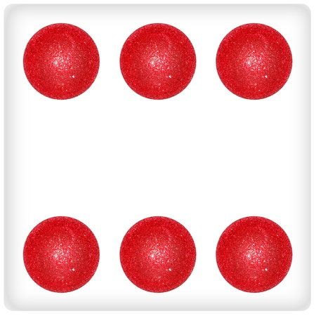 Six, red, white, dice, balls, xmas, Christmas, balloons Stock Photo - 13066413