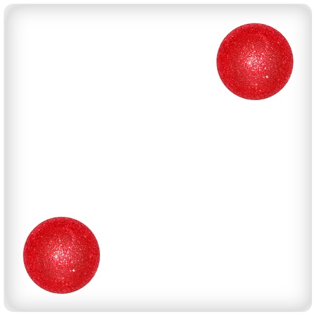 Two, dice, couple, game, play, fun, xmas balls photo