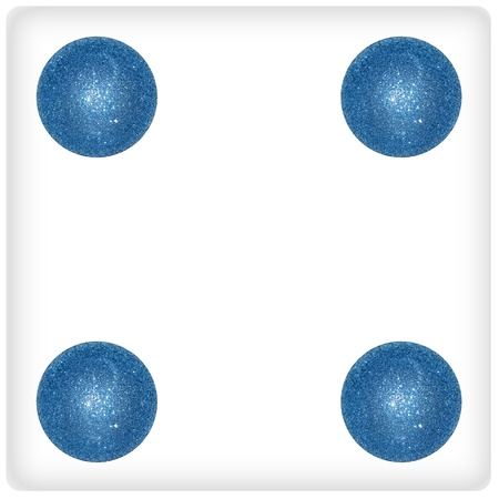 competences: Four, game, blue, balls, festive, funny, xmas