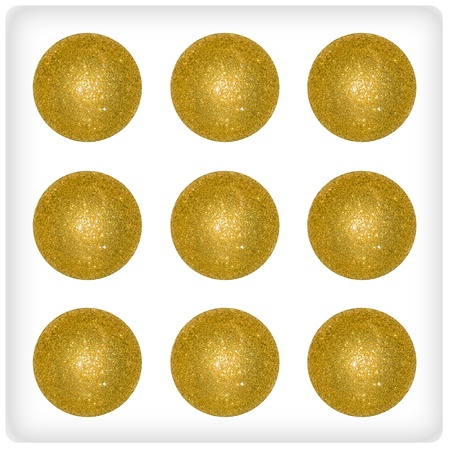 Nine, game, xmas balls, bubbles, gold, game, dice Stock Photo - 13113610