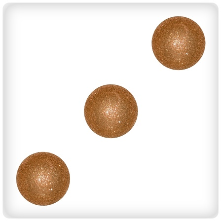 Three xmas dots on a dice face, game, games Stock Photo - 13113470