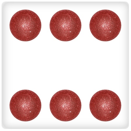 cupper: Festive dice, xmas balls, cupper, games, playing Stock Photo
