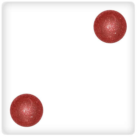 cupper: Two cupper xmas balls on a dice surface game