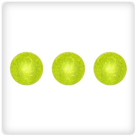 Three, green, luminous, festive, creative, difference, different, xmas Stock Photo - 13113469