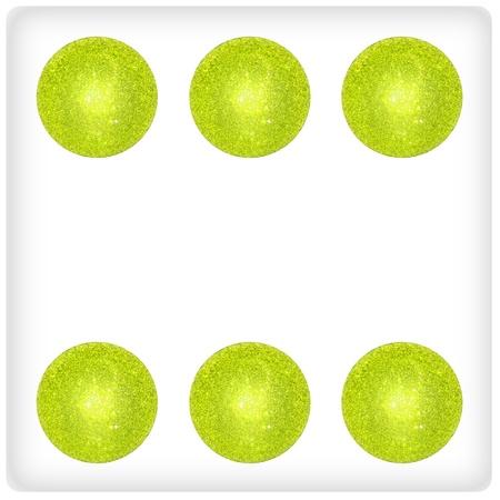 Six, xmas balls, green, brilliant, dice, dices, game, games photo