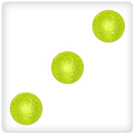 Three, green, white, dice, game, fun photo