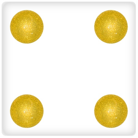 competences: Number, four, dice, balls, xmas, gold, golden, games