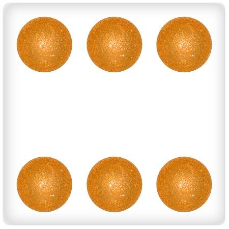 competences: Six, play, joy, dice, game, gold, xmas balls