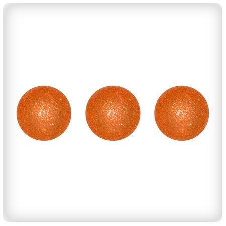 competences: Three, dots, play, game, balls, xmas, orange, white, dice