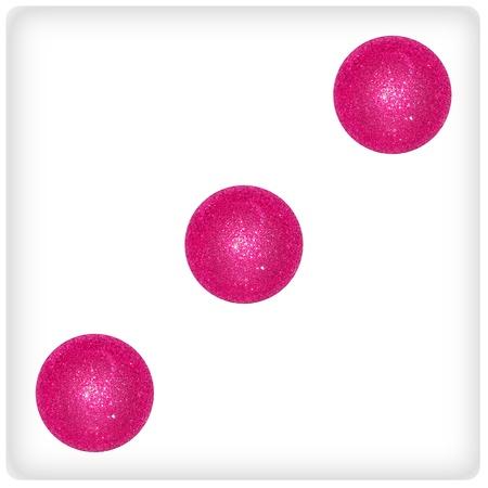 Three, balls, xmas, dice, play, joy, background Stock Photo - 13114840