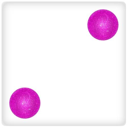 Two, pink, fuchsia, dice, game, play, joy, xmas photo