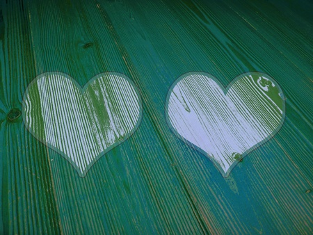 Love, green, eco, ecology, old wood, striped, background, romantic Stock Photo - 13114874