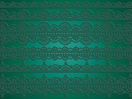 picot: Romantic sfondo natale all'uncinetto verde