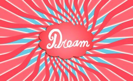Dream concept, cloud, dreaming, backdrop photo