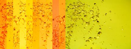 Yellow, gold, warm, water, solar, solarized, backgrounds, banners, drops photo